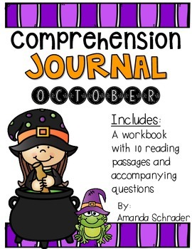 Comprehension Passages: October Journal Common Core Aligne