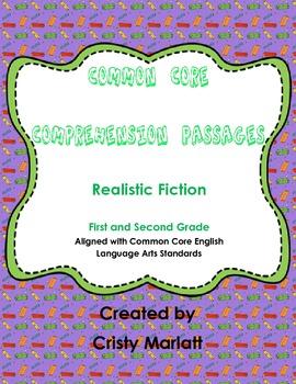 Comprehension Passages - Realistic Fiction for Common Core
