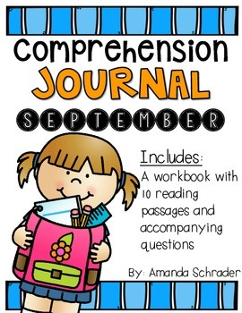 Comprehension Passages: September Journal Common Core Aligned (No Prep)