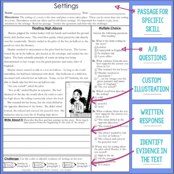 Comprehension Passages: Setting
