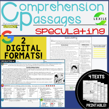 Comprehension Passages: Speculating