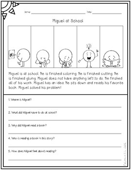 Comprehension Passages and WH Questions for ELLs