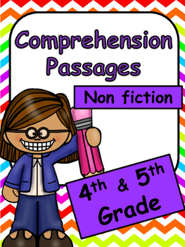 Reading Comprehension Passages for 4th and 5th Grade