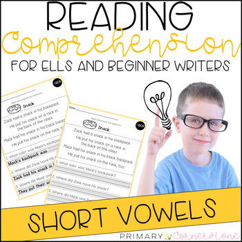 Reading Comprehension Passages and Questions (ESL) (ELL): CVCs & Word Families