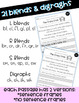 Reading Comprehension Passages and Questions (ESL) (ELL): Blends and Digraphs