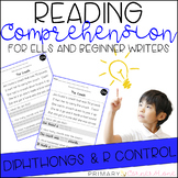 Reading Comprehension Passages and Questions (ESL) (ELL): Diphthongs & R Control