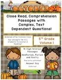 October 5th (V.1) Common Core Close Read Passages Complex Text Dependent Quest.