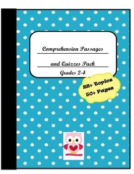 Comprehension Passages/Questions/Activities Bundle