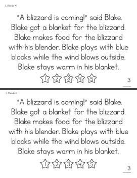 Comprehension Phonics L Blends- Book Edition