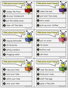 Comprehension Phrases Task Cards