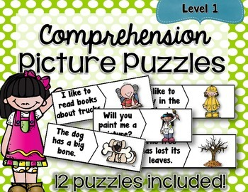 Comprehension Picture Puzzles **LEVEL ONE**