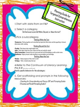 Comprehension Planning Guide for F&P Data