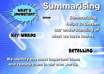 Comprehension Poster - Summarising