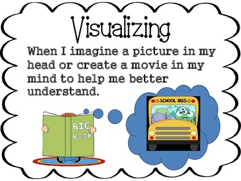 Free Comprehension Poster - Visualizing (from a complete set of 36 for purchase)