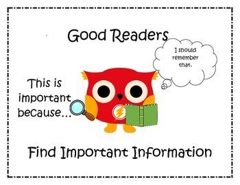 Comprehension Posters: Superhero Owls