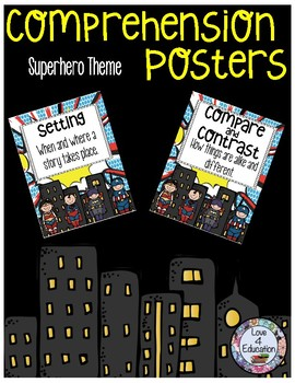 Comprehension Posters Superhero Theme