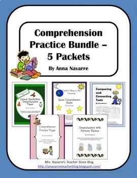 Comprehension Practice Bundle - 5 Packets