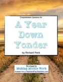 "Comp Q's- Richard Peck's ""A Year Down Yonder"" (Figurative"