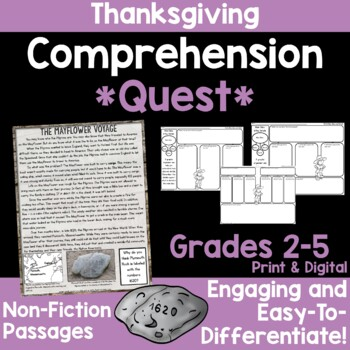 Comprehension Quest™ -Plymouth Colony
