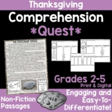Reading Comprehension Passages -Plymouth Colony Thanksgiving Nonfiction