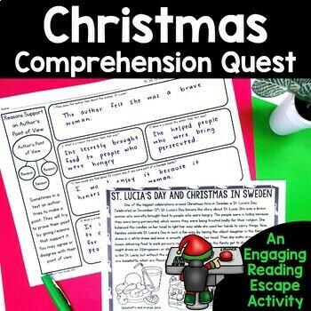 Comprehension Quest™ -Save Santa (Christmas Around the World)