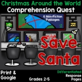 Comprehension Quest® -Save Santa (Christmas Around the World)