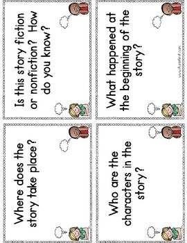 Comprehension Question Cards - Distance Learning