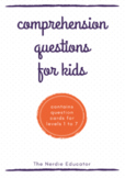 Comprehension Question Cards for Kids