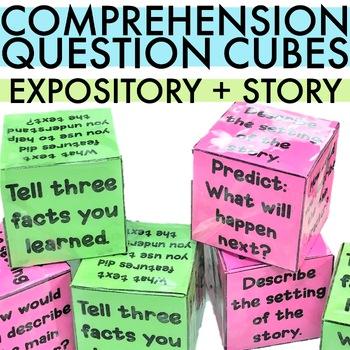 Comprehension Question Cubes