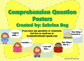 Comprehension Question Posters