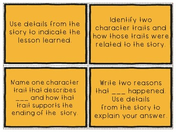 Comprehension Question Stems