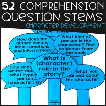 Comprehension Question Stems (52 included)