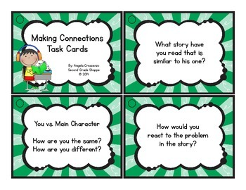 Comprehension Question Task Cards {for any text}