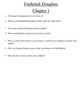 Comprehension Question and Answer Guide for The Narrative of Frederick Douglass