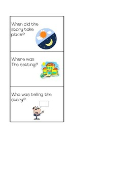 Comprehension Question cards for Daily 5