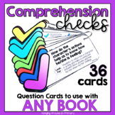 Reading Comprehension Questions Cards for Any Book