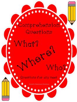Comprehension Questions 3