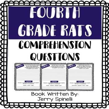 Comprehension Questions Aligned with Fourth Grade Rats