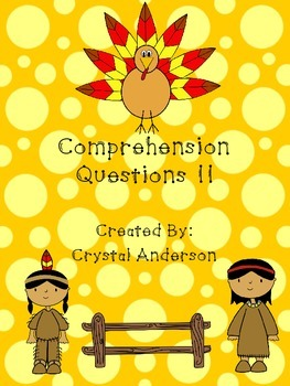 Comprehension Questions Fall Themed