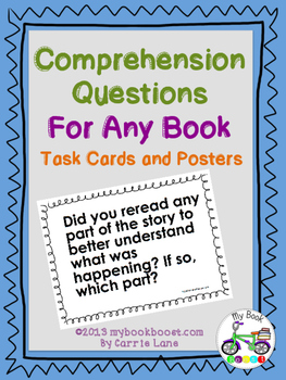Comprehension Questions For Any Book