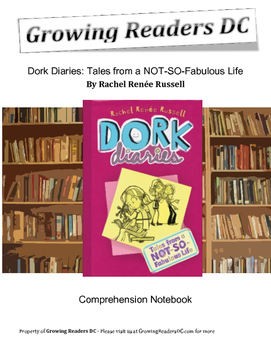 Comprehension Questions + Guided Reading + Answer Keys for Dork Diaries
