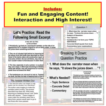 Comprehension Questions PowerPoint