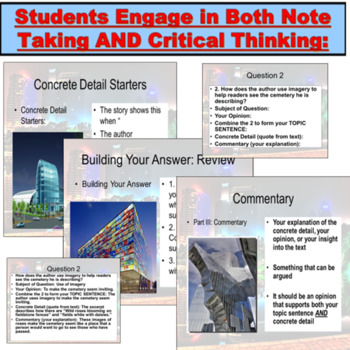 Literature Response: Answering Critical Thinking Questions