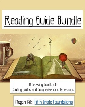 Comprehension Questions/Reading Guide Bundle, Book Chat Resources FREE UPDATES