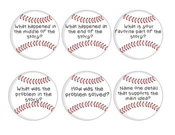 Comprehension Questions - Retelling (baseball theme)