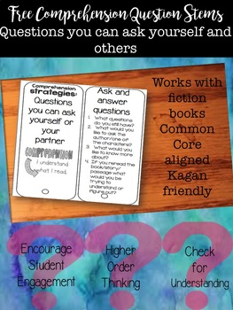 Comprehension Questions Stems: Ask and Answer Questions