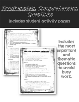 frankenstein essay questions and answers Frankenstein, questions for discussion and possible answers, essaybasicscom.