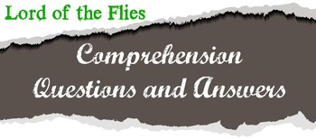 Comprehension Questions and Answers for Lord of the Flies