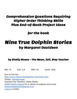 Comprehension Questions and Project Ideas for Nine True Dolphin Stories
