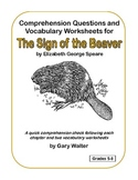 Comprehension Questions and Vocabulary Worksheets for The